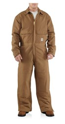 Carhartt Quilt-Lined Flame-Resistant Duck Coveralls